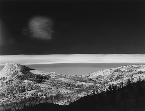 sierra wave cloud, yosemite national park, ca, 1981 by bob kolbrener