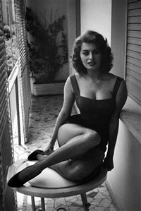 sophia loren at home, rome by david 'chim' seymour