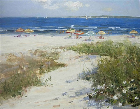 summer umbrellas (sold) by sally swatland
