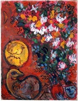 bouquet de liliums by marc chagall