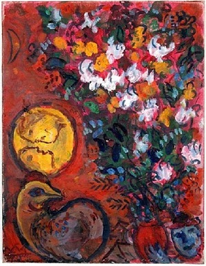 bouquet de liliums by marc chagall