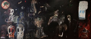 untitled (black painting) by aboudia