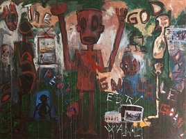 untitled (the god) by aboudia