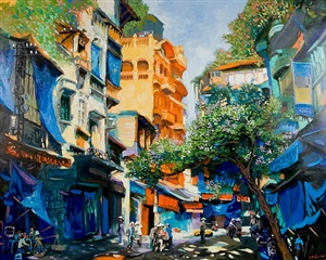 morning street by duong viet nam