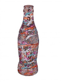 coca cola bottle by howard finster