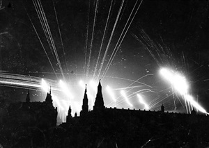 german air raid over kremlin by margaret bourke-white