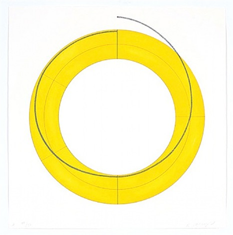 ring a-yellow by robert mangold