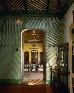 alvares residence, entrance vestibule, margao, goa, india by robert polidori