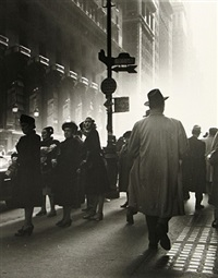 early morning rush, midtown manhattan, n.y.c. by rebecca lepkoff