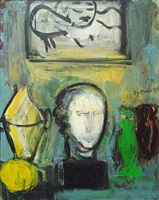 still life with greek head by robert de niro, sr.