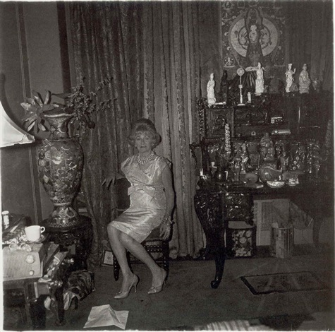 a widow in her bedroom nyc by diane arbus