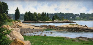 summer morning, incoming tide (sold) by cora ogden