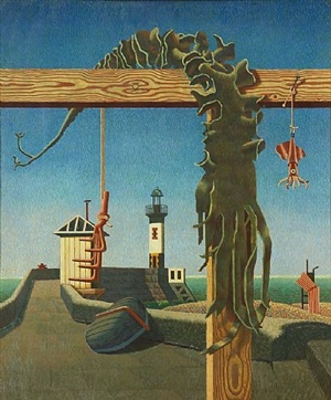 quiet outlook / seaweed & lighthouse by edward alexander wadsworth