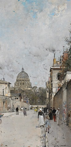 paris, le dome de l'eglise du val de grace by luigi loir