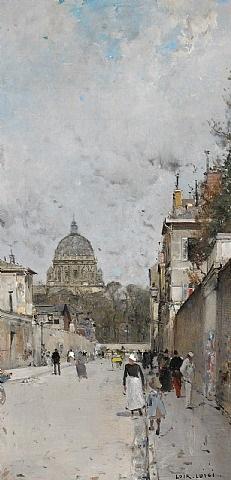 paris, le dome de l'eglise du val de grace by luigi loir