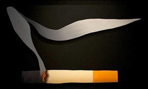 smoking cigarette #2 by tom wesselmann