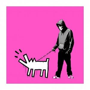 choose your weapon (bright pink) by banksy