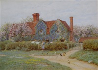 a bukinghamshire house at penstreet by helen allingham