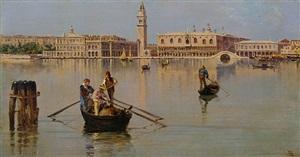 the bacino di san marco, venice (pair) by antonietta brandeis