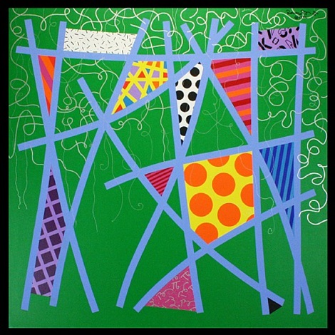 everglades green by romero britto
