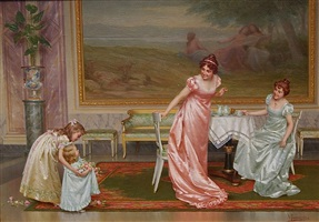the tea party by vittorio reggianini