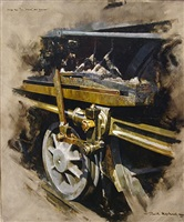 study for oil, muck and sunlight by david shepherd