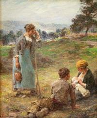 haymakers resting (repos pendant la fenaison) by léon augustin lhermitte