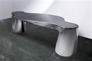 2 legs and table by ron arad