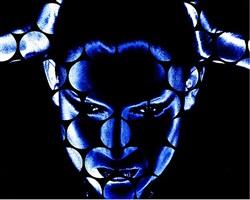 o.t. (blau) by katharina sieverding