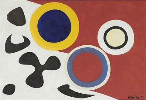 three lights and five blacks by alexander calder