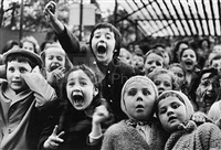 children at puppet theater by alfred eisenstaedt