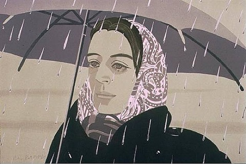 gray umbrella by alex katz