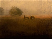 two wild horses, cumberland island, ga by jack spencer
