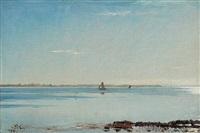 calm waters at hornbaek by peder severin krøyer