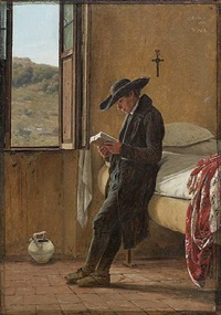 a young man reading by martinus christian wesseltopf rörbye