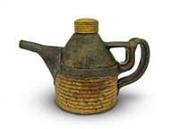 chevron soy bottle, teapot by dan anderson