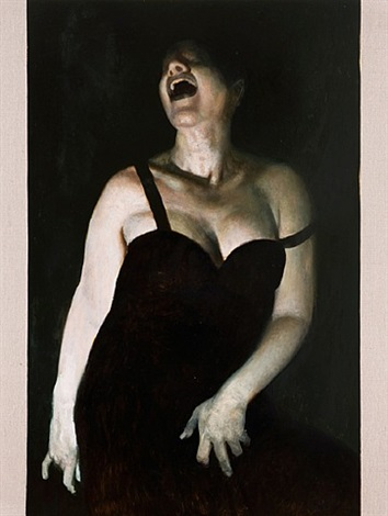 laughing woman by vincent desiderio