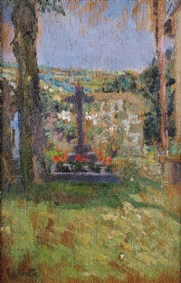 chagford churchyard by walter richard sickert