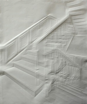 ohne titel (treppe mit figuren) / untitled (staircase with figures) by simon schubert