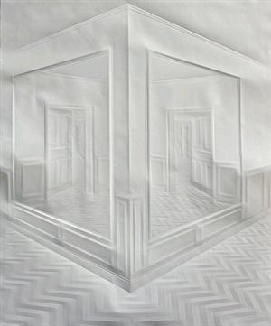 ohne titel (gänge mit spiegeln) / untitled (hallway with mirrors) by simon schubert