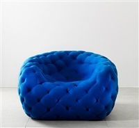 royeroid armchair (blue) by robert stadler