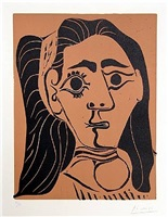 femme aux cheveaux flous by pablo picasso