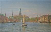 copenhagen harbour by vilhelm karl ferdinand arnesen