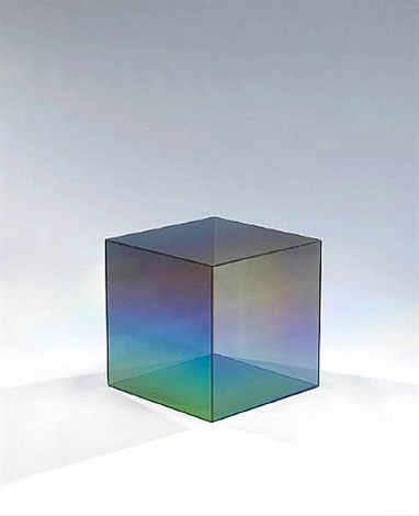 "20"" cube by larry bell"
