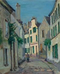 rue lepic à montmartre, paris by armand guillaumin