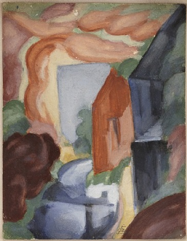 landscape without words (study) by oscar florianus bluemner