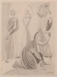 quatre femmes avec fleurs by léopold survage