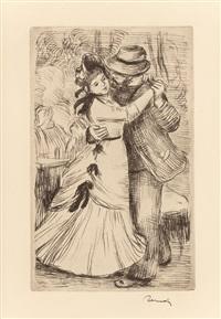 la danse à la campagne, 2e planche by pierre-auguste renoir
