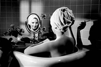 barbra streisand in the bathtub, los angeles by steve schapiro