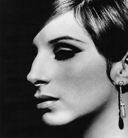 barbra streisand pearl ear drop, los angeles by steve schapiro